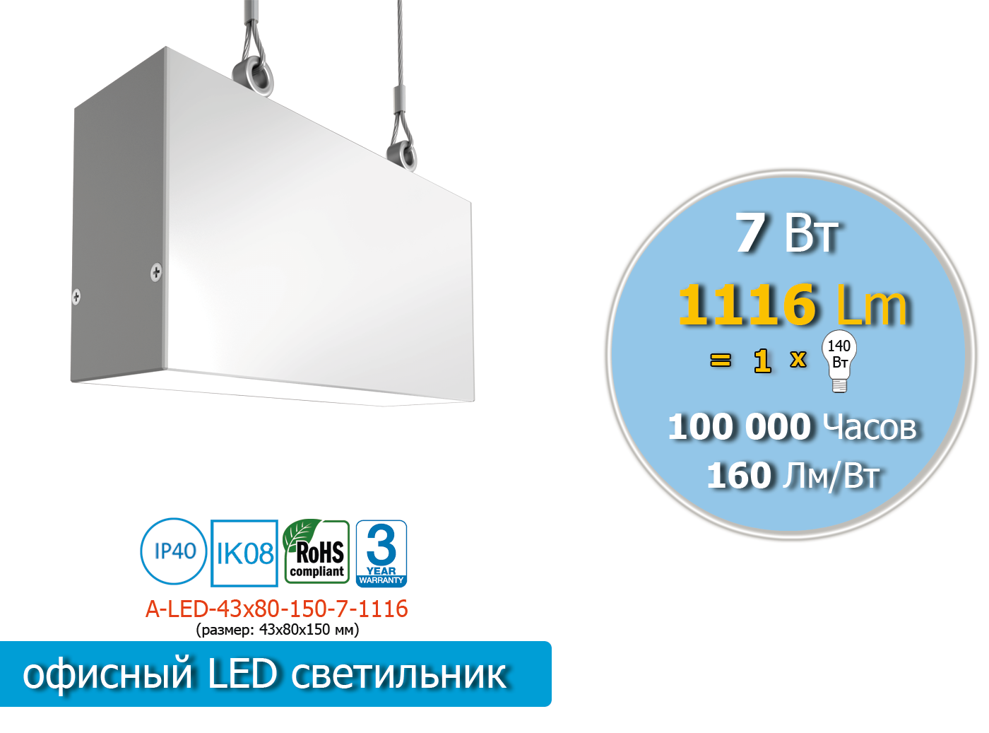 A-LED-43х80-150-7-1116