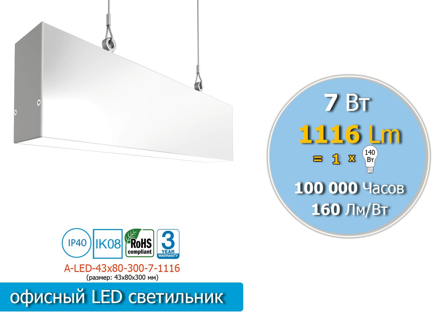 A-LED-43х80-300-7-1116