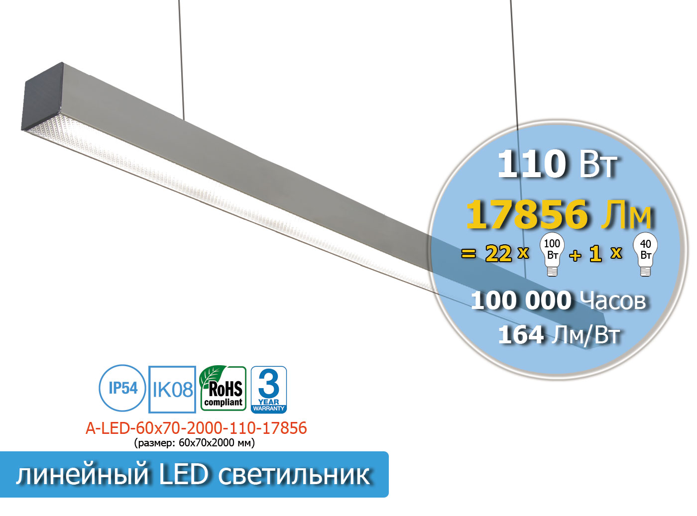 A-LED-60х70-2000-110-17856