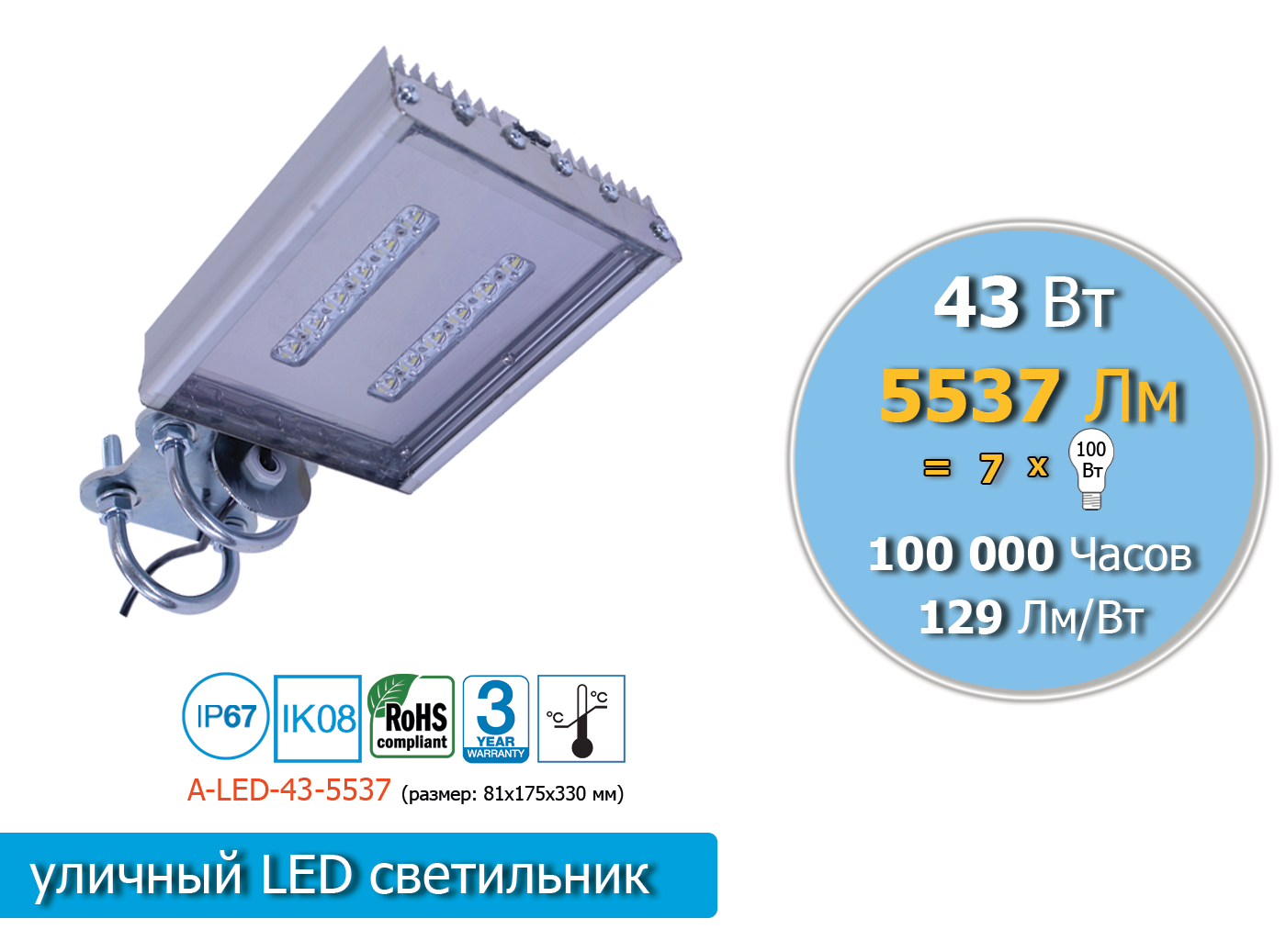 A-LED-43-5537-S